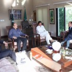 British High Commissioner Thomas Drew called on Chairman PTI Imran Khan at bani gala