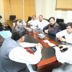 Central Secretary for Foreign Affairs Dr Shahzad Waseem at PTI Islamabad Jalsa committee meeting to finalise arrangements