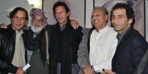 Chacha Humayun with PTI Leadership