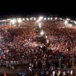 Chairman PTI Imran Khan addressing at parade ground islamabad