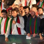 Chairman PTI Imran Khan addressing Tehreek-e-Ehtesab rally at Fasial Avenue Islamabad (Dr Shahzad Waseem)