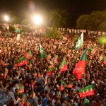 Chairman PTI Imran Khan addressing Tehreek-e-Ehtesab rally at Fasial Avenue Islamabad (Dr Shahzad Waseem)