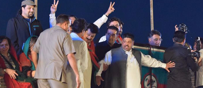 Chairman PTI Imran Khan has arrived on stage - FeatureImage