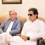 Chairman PTI Imran Khan meeting party leaders in Bani gala.