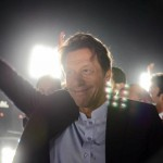 Chairman PTI Imran Khan on stage at Parade Ground Islamabad.