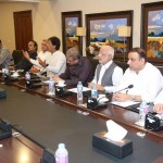 Chairman PTI Imran Khan presiding Media Strategy Meeting at Chairman secretariat Bani Gala