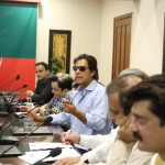 Chairman PTI Imran Khan presiding Media Strategy Meeting in Bani Gala