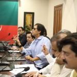 Chairman PTI Imran Khan presiding Media Strategy Meeting in Bani Gala