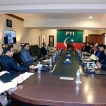 Chairman Pakistan Tehreek-e-Insaf Imran Khan presiding Strategy Meeting in Bani Gala Islamabad.