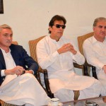 Chairman PTI Imran Khan presiding an important meeting at Bani gala.