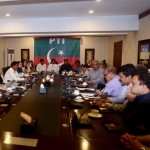 Chairman PTI Imran Khan presiding party leaders meeting at Bani Gala.