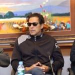 Chairman PTI Imran Khan presiding strategy meeting at Bani Gala Islamabad.