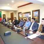 Chairman PTI Imran Khan presiding strategy meeting at Bani Gala Islamabad.