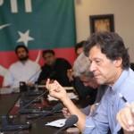 Chairman PTI Imran Khan presiding strategy meeting at Bani Gala.