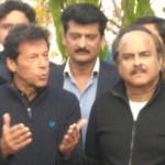 Dr Shahzad Waseem with Imran Khan at Media Briefing