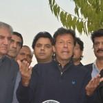 Dr Shahzad Waseem with Imran Khan at Media Briefing