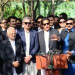 Chairman PTI Imran Khan Talking to Media