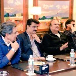 Dr Shahzad Waseem attended a meeting on media strategy presided by Chairman PTI Imran Khan