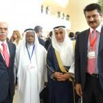 Dr Shahzad Waseem poses with delegate from Muslim countries at 2nd Baku Forum, Baku, Azerbaijan. — in Azerbaijan.