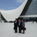 Dr Shahzad Waseem with Chinese Delegates at Baku forum. — in Azerbaijan.