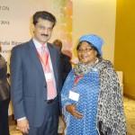 Dr Shahzad Waseem with Mrs Rabitou Mamboune Njoya Princess of Cameron.