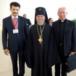 Dr Shahzad Waseem with spiritual leaders at Baku forum.