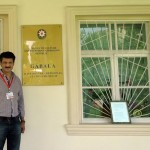 Dr Shahzad Waseem visited Gabala Museum displaying collection of historic articles of the region. — at Gabala, Shaki, Azerbaijan.
