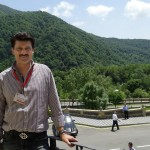 Dr Shahzad Waseem visiting Caucasian Mountains. The Ciscaucasus contains the larger majority of the Greater Caucasus Mountain range, also known as the Major Caucasus Mountains. — at Gabala, Shaki, Azerbaijan.