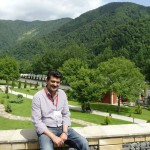Dr Shahzad Waseem visiting Caucasian Mountains. The Ciscaucasus contains the larger majority of the Greater Caucasus Mountain range, also known as the Major Caucasus Mountains.