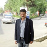 r Shahzad Waseem standing outside the hotel during his Visiti of Shaki City situated in northwestern Azerbaijan