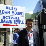 Dr Shahzad Waseem visiting the Albanian Temple.