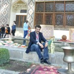 Dr Shahzad Waseem poses at the Shaki Khan Palace.