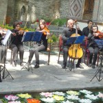 Orchestra playing Local Folk music at the lunch.