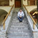 Dr Shahzad Waseem at the Staircase of Caravan Serai.