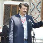 Dr Shahzad Waseem expressing views at Shaki Palace to the delegates.