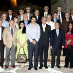 Group Photo of Guests with Dr Shahzad Waseem at dinner to welcome New Ambassadors.