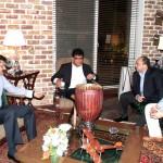 Dr Shahzad Waseem, Said Mohamed Elsaid Hindam (The Ambassador of Egypt) & Stephane MUND (First secretary of Belgium).