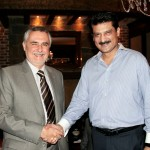 Istvan Szabo (The Ambassador of Hungary) shaking hands with Dr Shahzad Waseem.