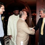 Lars- Hjalmar Wide (The Ambassador of Sweden) shaking hands with His Excellency Rodolfo J. Martin Sarvia (The Ambassador of Argentina), G. G. F. Grema (Head of Chancery Nigeria) & Dr Shahzad Waseem.