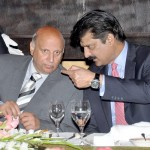 Adviser to Chairman PTI Dr Shahzad Waseem in discussion with Chaudhary Muhammad Sarwar