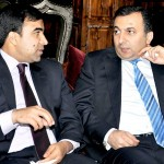 Ambassadors of Azerbaijan H.E Mr. Dashgin Shikarov and Afghanistan H.E. Mr. Janan Moosazai in discussion.