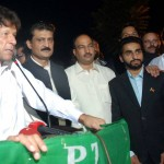 Chief guest, Chairman PTI Imran Khan expressing views at Iftar Dinner hosted by Dr Shahzad Waseem.
