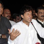 Chief guest Chairman PTI Imran Khan along with PTI Candidate NA48 Islamabad and Dr Shahzad Waseem, expressing views at Iftar Dinner hosted by Dr Shahzad Waseem.