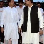 Dr Shahzad Waseem welcoming Chief guest Chairman PTI Imran Khan at Iftar Dinner hosted by Dr Shahzad Waseem.
