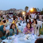 Ladies at the reception of Iftar Dinner hosted by Dr Shahzad Waseem.