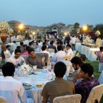 Guests at the reception of Iftar Dinner hosted by Dr Shahzad Waseem.