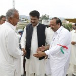 Dr Shahzad Waseem Meeting People on Election Day
