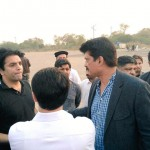 Dr Shahazad Waseem at Parade ground to review arrangements for tomorrow