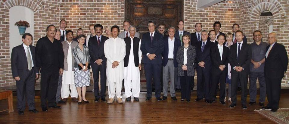 Dr Shahzad Waseeem hosted dinner for Chairman PTI Imran Khan with European ambassadors at his residence - 03