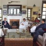 Dr Shahzad Waseem with Imran Khan Met UK HC at Bani Gala